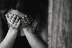 Vrouw met burnout